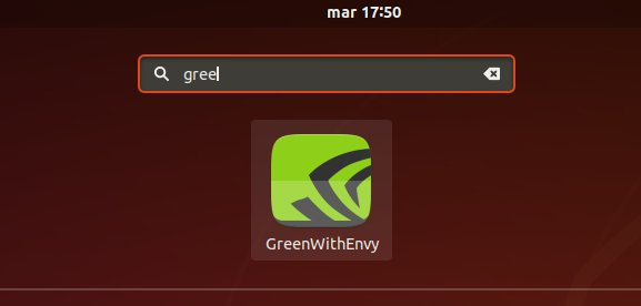 Installing GreenWithEnvy on Debian Buster - Launcher