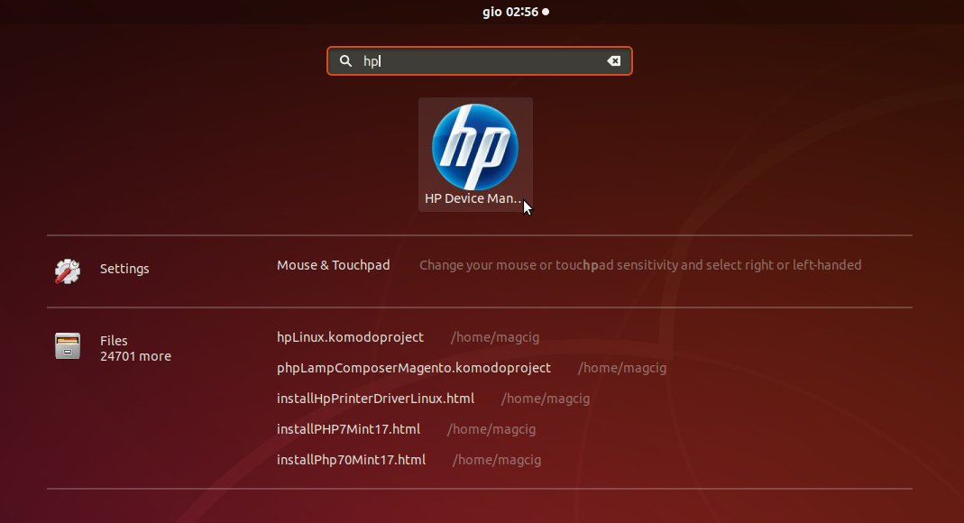 Linux Gnome 3 Add HP Printer Easy Guide - HP Device Manager
