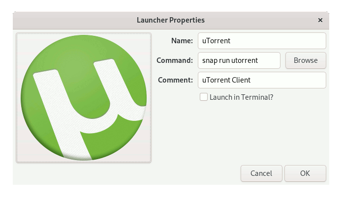 Step-by-step uTorrent for Windows Debian Buster Installation Guide - Making Launcher