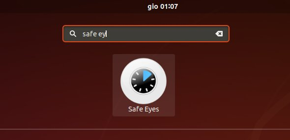 Safe Eyes Manjaro Linux Installation Guide - Launcher