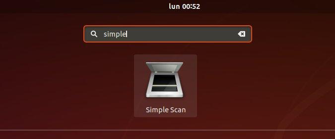 Scanner Quick Start on Ubuntu Linux - Launching Simple Scan