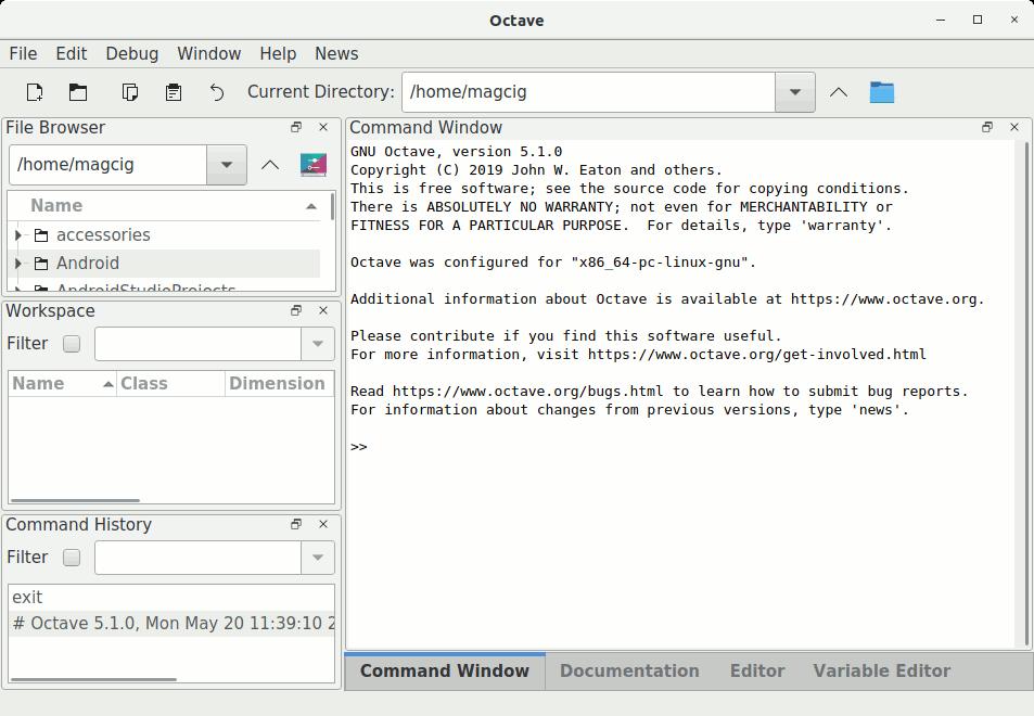 Installing GNU Octave on Linux - UI