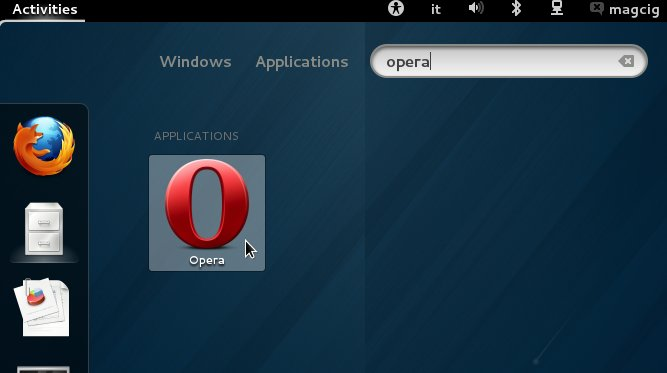 Opera GNOME3 Desktop Launcer