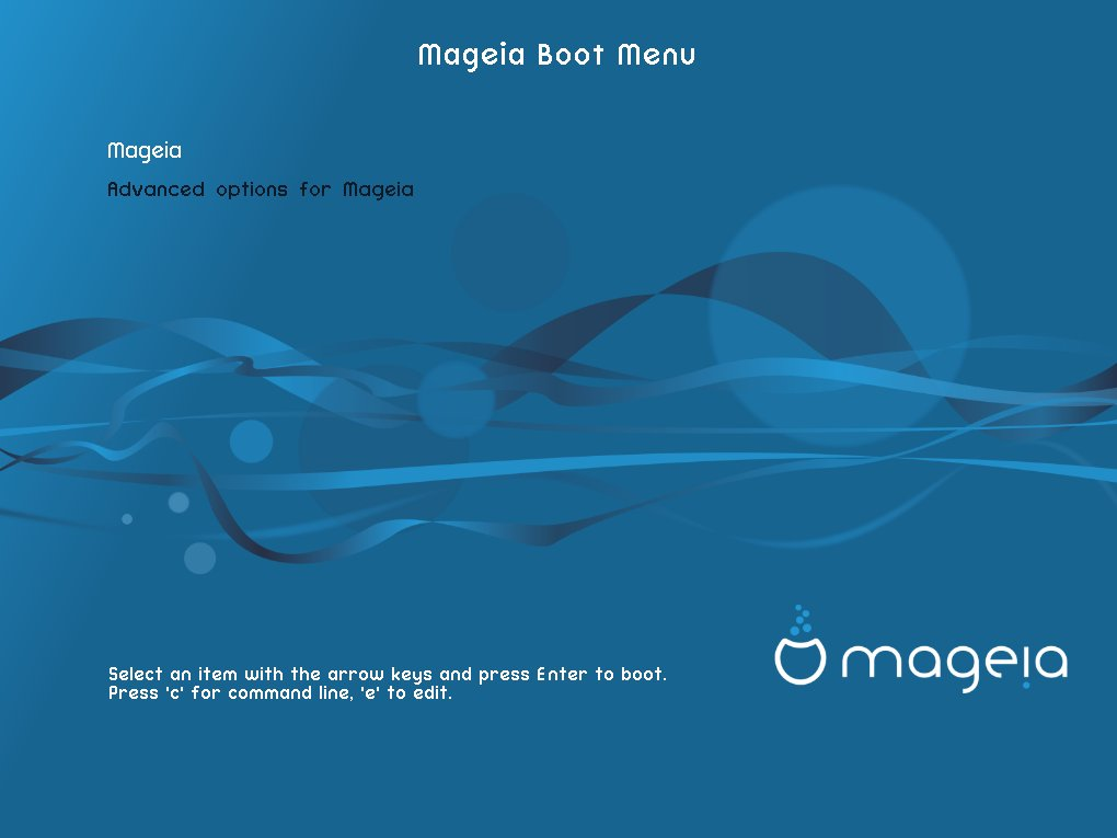 How to Boot Mageia on Runlevel 3 Easy Guide - edit grub command