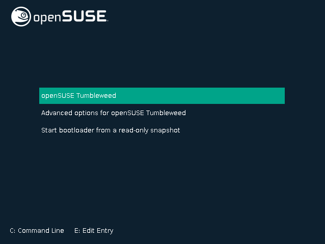 How to Boot openSUSE Tumbleweed on Runlevel 3 Easy Guide - edit grub command