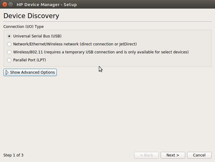 HP Printer Quick Start on Ubuntu 16.10 Yakkety - HP Device Manager