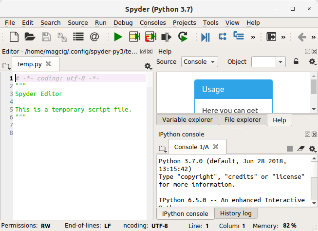 How to Install Spyder Python on Elementary OS Linux - Spyder IDE