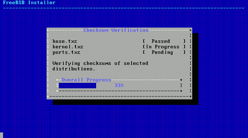 Install FreeBSD 9 KDE 4 Checksum Verification