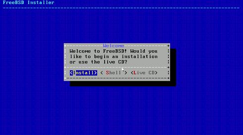 VMware Fusion 4/5 Install FreeeBSD 9.X KDE Desktop - Select Install