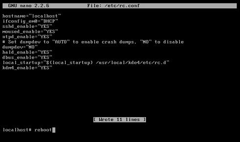 VMware Fusion 4/5 Install FreeeBSD 9.X KDE Desktop - Reboot Into KDE 4