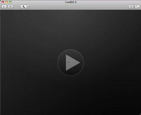 VMware Fusion 4/5 Install FreeeBSD 9.X KDE Desktop - Start Virtual Machine