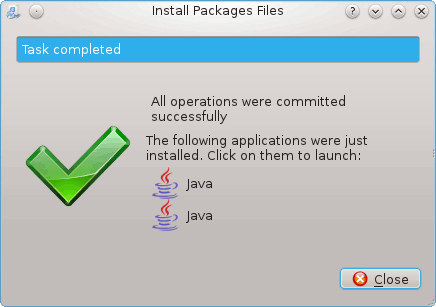 Install the Latest Java on RHEL Linux 6 KDE Success