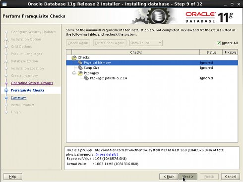 Install Oracle 11g DB on Linux Red Hat 6.x i686/x8664 Oracle 11g R2 Installation Step 9