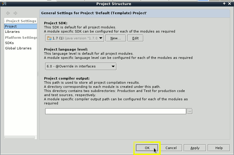 IntelliJ IDEA 2020 Welcome - Configure - Project Defaults - Project Structure - Sdk Setup