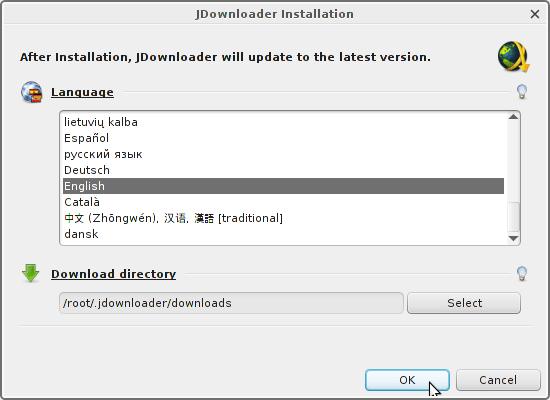 Install JDownloader on Kubuntu 16.04 Xenial 32/64-bit - Set Updates Location