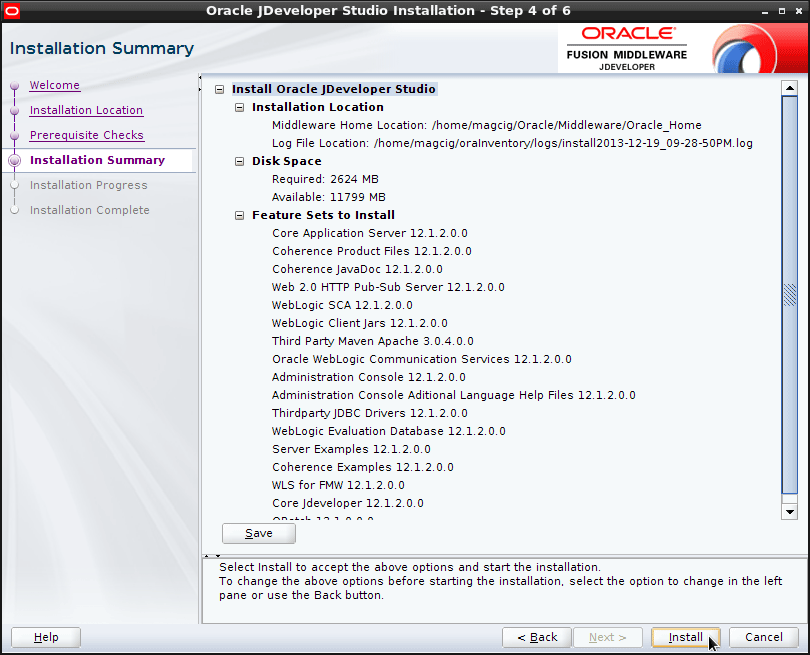 Install JDeveloper 12c Java Edition Ubuntu 16.04 Xenial Xerus Linux - JDeveloper Java Edition GUI
