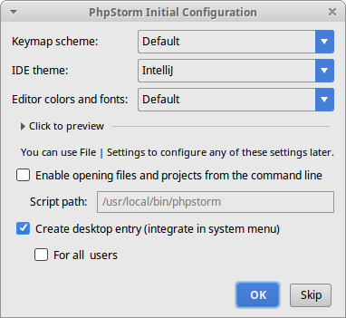 How to Install PhpStorm antiX Linux - setting up path and shortcut