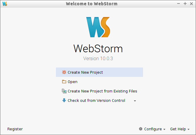 Linux Ubuntu WebStorm Quick Start Guide - webstorm quickstart