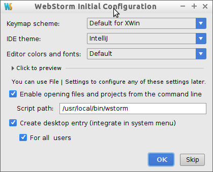 How to Install WebStorm IDE on Fedora 28 - setting up path and shortcut