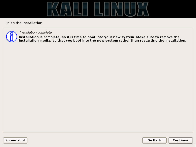How to Install Kali 2016 on Windows 8 Computers Step-by-Step Guide - Installation Complete