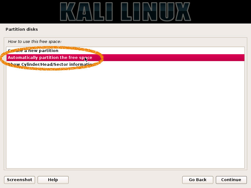 How Partitioning for Kali Installation on Windows 10 Computers - Auto Partitioning Free Space