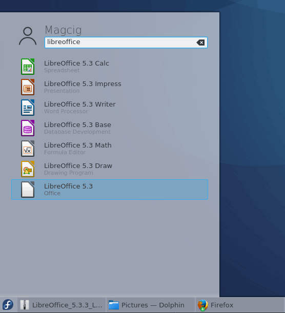Install the Latest LibreOffice Suite on CentOS - LibreOffice in KDE Desktop