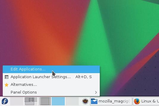 Making a KDE 5 Launcher on Main Menu - Edit Apps