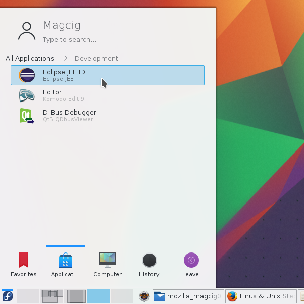 Making a KDE 5 Launcher on Main Menu - New Launcher