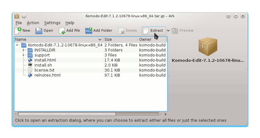 KDE ActivePerl Extraction