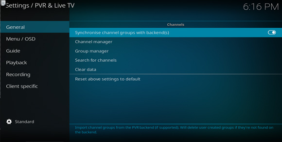 Linux How to Quick Start with Kodi Live TV on GNU/Linux Distributions - Synchronize Channel Groups