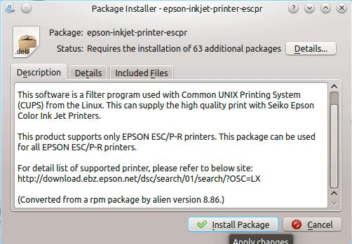 How to Install the Epson Printer Driver on Kubuntu 14.10 Utopic - Kubuntu Software Center