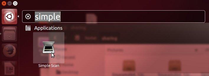 Ubuntu Canon Scanning Quick Start Guide - Launching Simple Scan