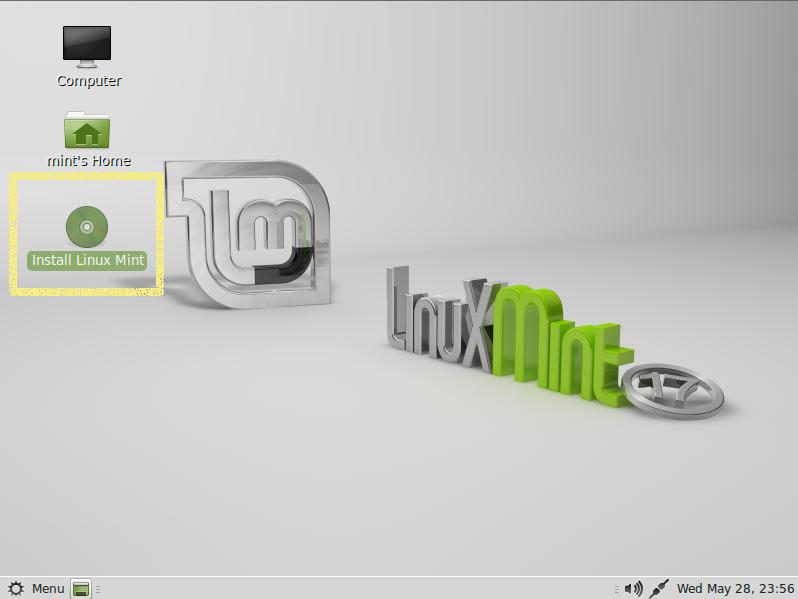 Install Linux Mint 17 Qiana Cinnamon Top of Windows 8 - Start Installation
