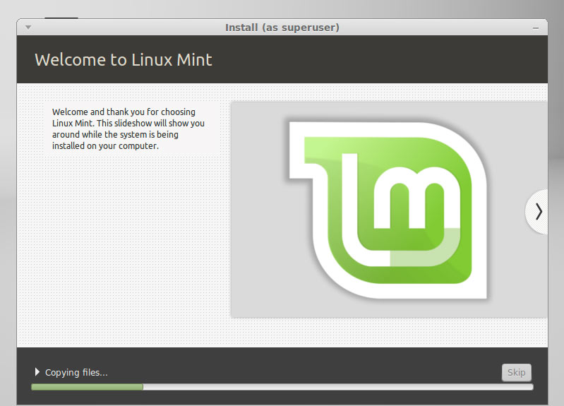 Linux Mint 18.1 Serena Mate Installing