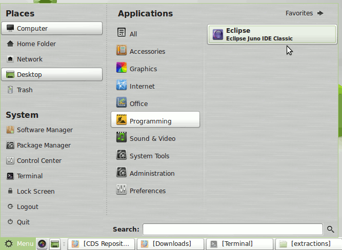 Install Eclipse 2020-09 R IDE for Java Developers Linux Mint 13 Maya - Linux Mint Eclipse Launcher