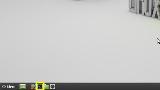 Linux Mint 18 Sarah Command Line Quick Start - Mint Cinnamon Open Terminal