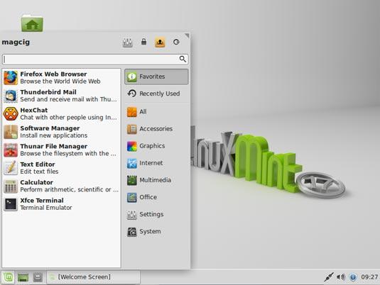 Linux Mint 17 Qiana Xfce Desktop