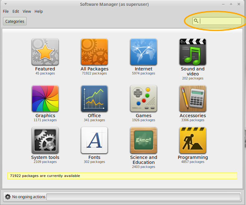 Linux Mint Installing youtube-dl - Linux Mint Software Installer Searching Package