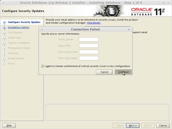 Install Oracle 11g DB on Linux Red Hat 6.x i686/x8664 Oracle 11g R2 Installation Failed Connection