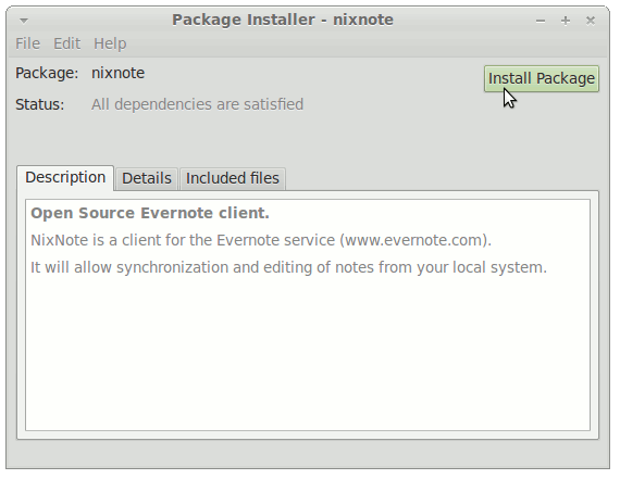 Install Evernote for Linux Mint 18.2 Sonya 32/64-bit - Start Evernote Linux Clone Installation