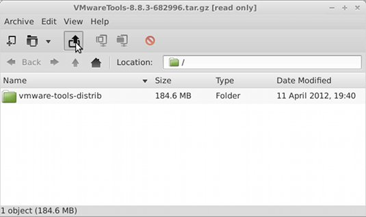 Installing VMWare Tools on Linux DescentOS 3.0.2 Mate - Extraction