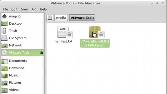 Installing VMWare Tools on Linux DescentOS 3.0.2 Mate - Open VMWare Tools Archive