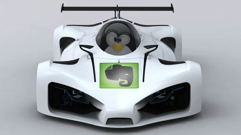 Linux Penguin LeMans-Evernote - Featured
