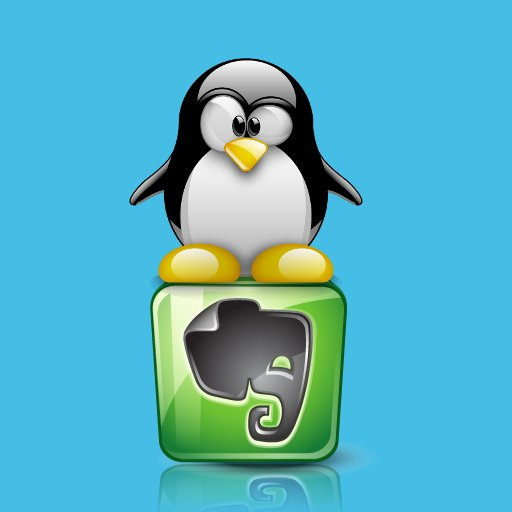Linux Crazy Penguin on Evernote