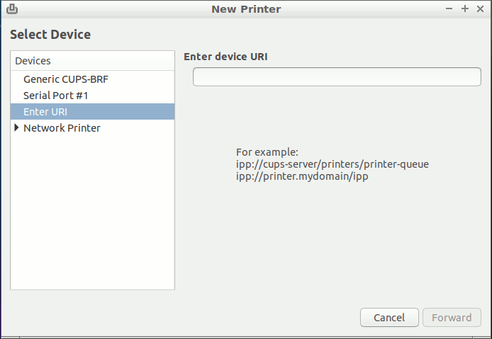 Linux Lxde Add Printer Easy Guide - Select Device