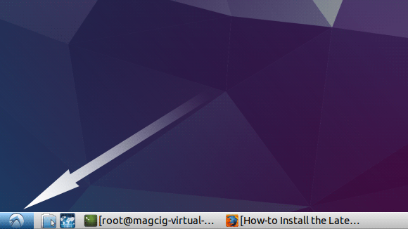 How to Install WordPress Desktop App Lubuntu - Open Menu