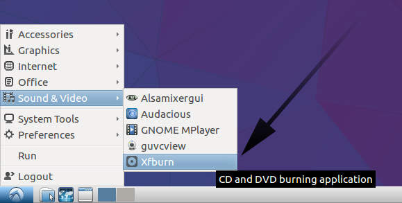 Lubuntu How to Burn ISO Image to Disk - search burn