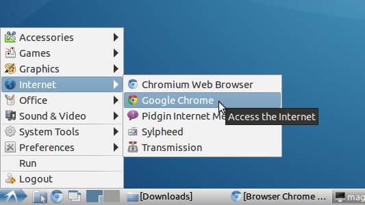 How to Install Google-Chrome on LXLE Linux 14.04 - Chrome on LXLE Lxde Main Menu