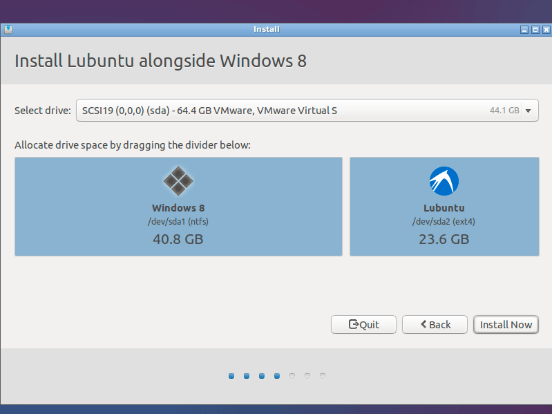 Lubuntu 14.10 Utopic Installation Steps on Top of Windows 8 - resize partitions