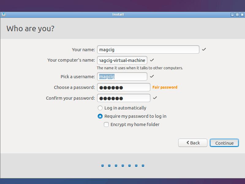 Lubuntu 14.10 Utopic Installation Steps on Top of Windows 8 - setup user